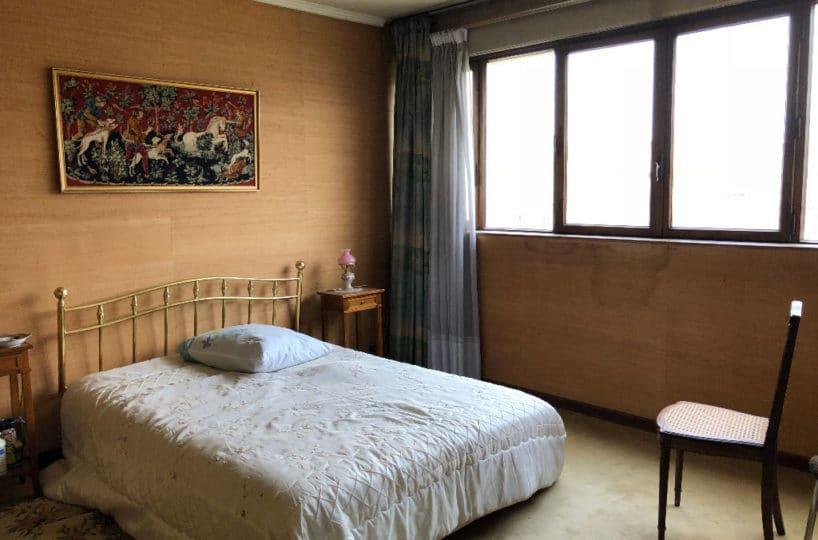 achat appartement charenton le pont: 3 pièces 61 m², chambre à coucher avec vue jardin et bois