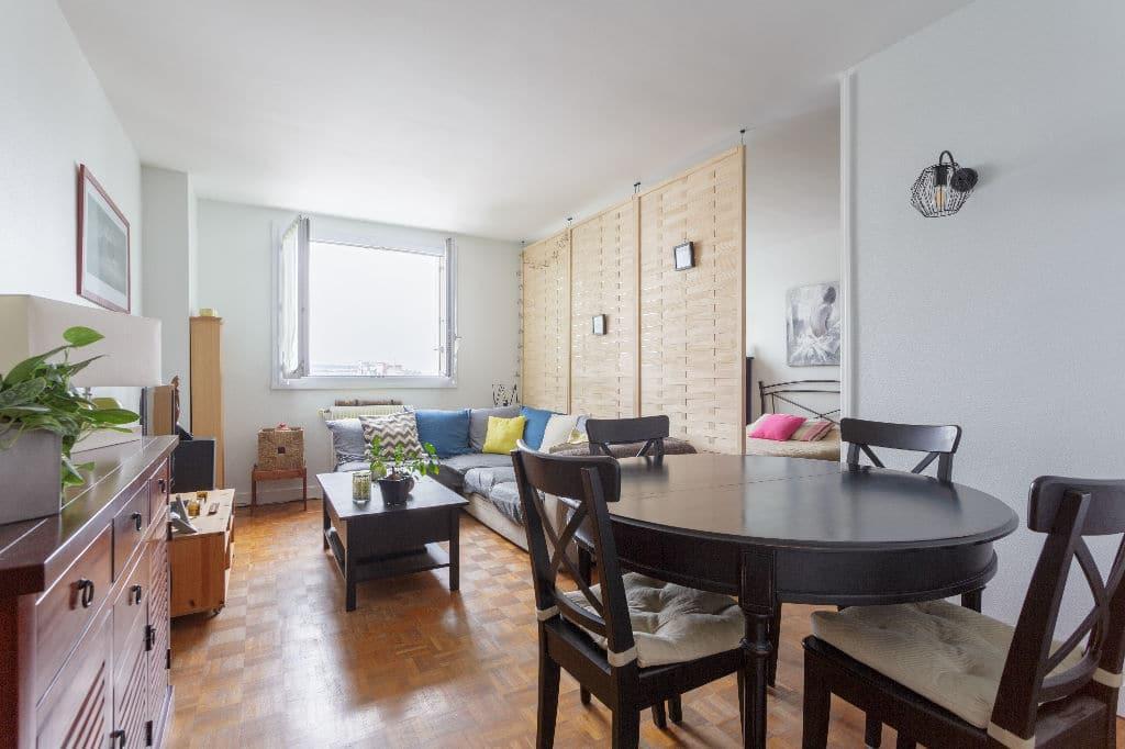 achat appartement alfortville: 3 pièces 74 m², salon / séjour lumineux