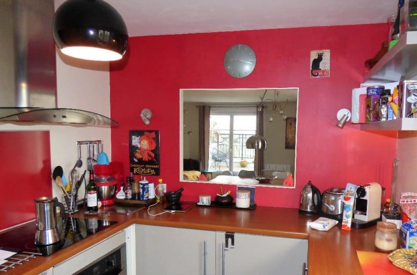 alfortville vente appartement: 4 pièces cuisine aménagée et équipée, ouverture passe-plat