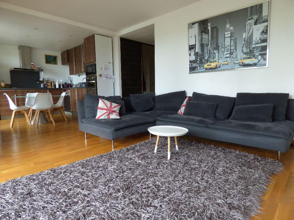 appartement charenton le pont: 4 pièces 72 m², séjour avec cuisine us, spots au plafond