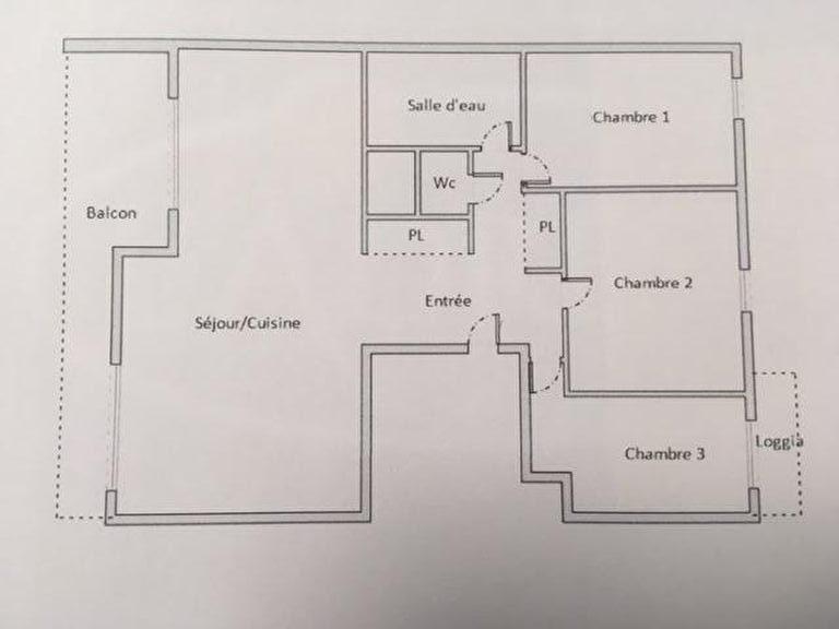 appartement à vendre à charenton-le-pont: 4 pièces 72 m², plan détail de l'appartement