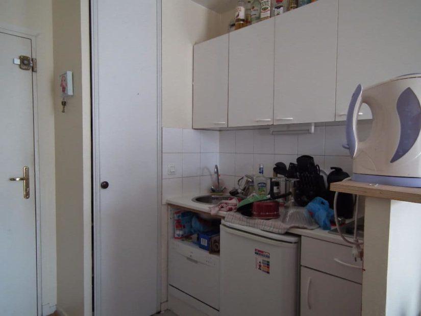 achat appartement alfortville: 23 m², vue sur la porte d'entrée proche cuisine