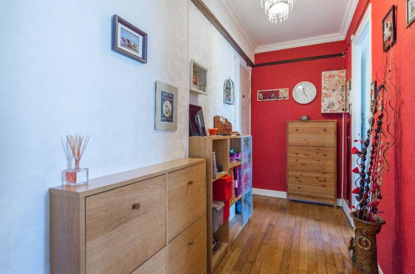 vente appartement 2 pieces charenton, 49 m², hall d'entrée, parquet massif