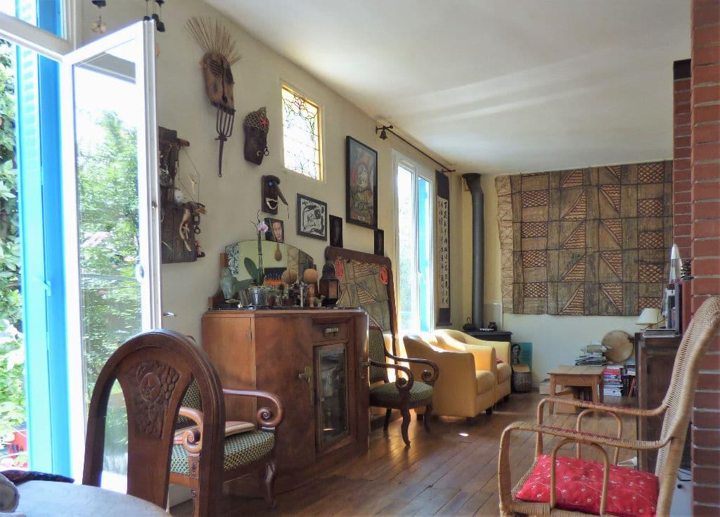 achat maison maisons alfort: 6 pièces 130 m², séjour avec terrasse donnant sur le jardin