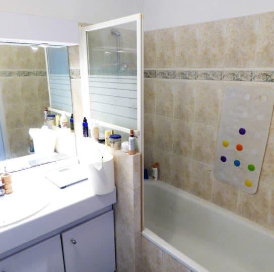 achat appartement alfortville: 3 pièces 56 m², salle de bains avec meuble vasque