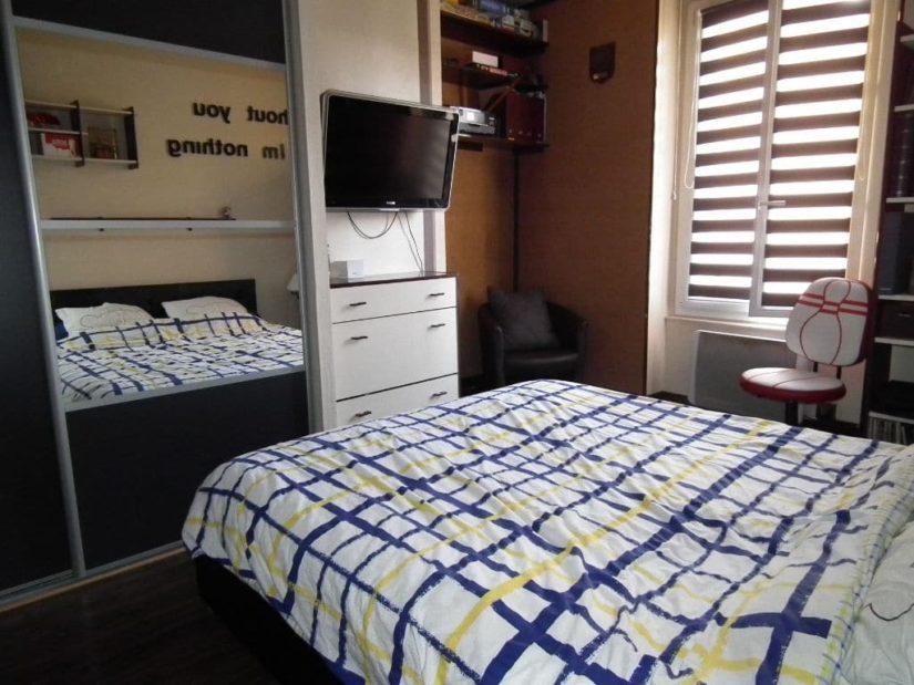 estimer appartement alfortville: 2 pièces 29 m², chammbre à coucher, lit double, étagères
