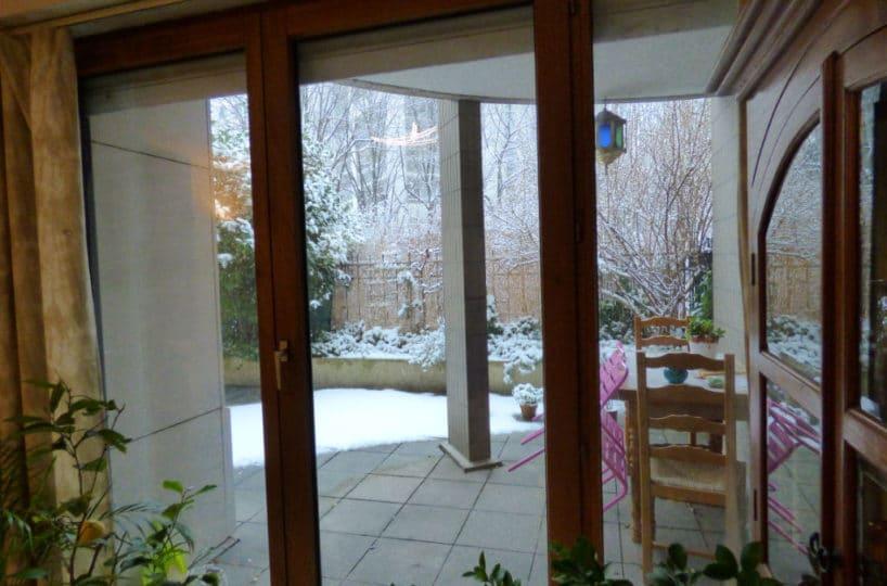 vendre appartement charenton: 2 pièces 44 m², belle terrasse arborée privative accès salon