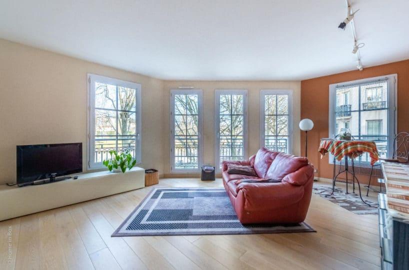 appartement à vendre maisons-alfort: 3 pièces, salon avec balcon vue sur la marne