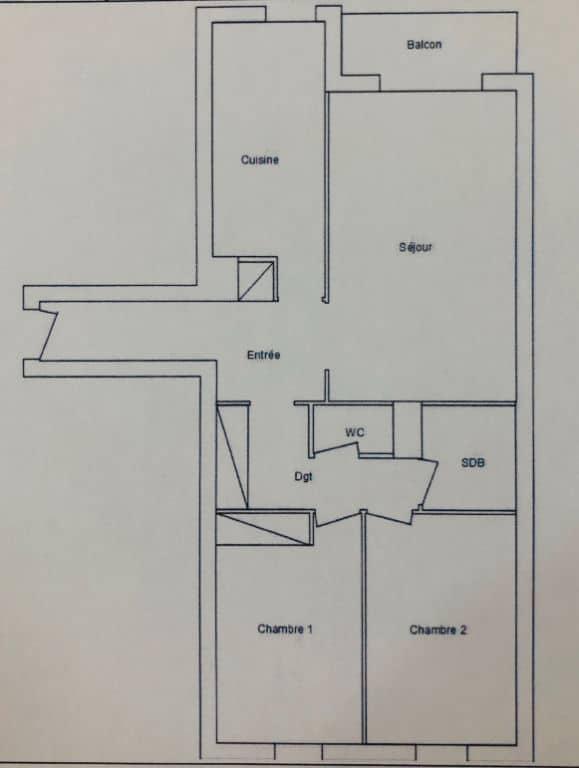 appartement charenton le pont: 3 pièces 71 m², plan d'architecte détaillé