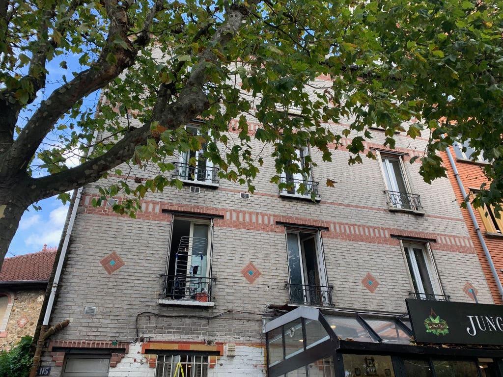 vente studio maisons alfort: 26 m² au 1er étage, façade de l'immeuble