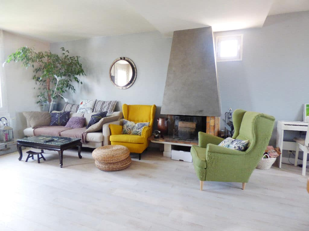 appartement à vendre maisons-alfort: 4 pièces 148 m², pièce à vivre avec belle cheminée
