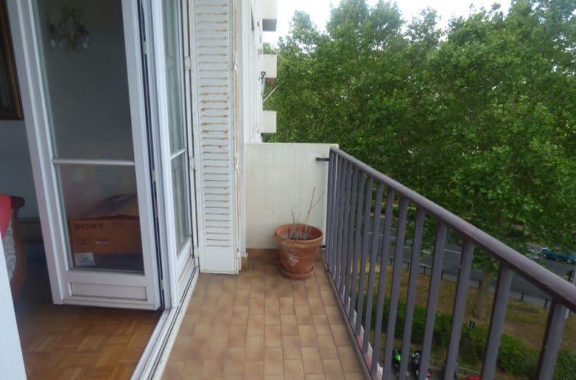 appartement à vendre maisons-alfort: 3 pièces 74 m², aperçu du balcon accès salon / séjour