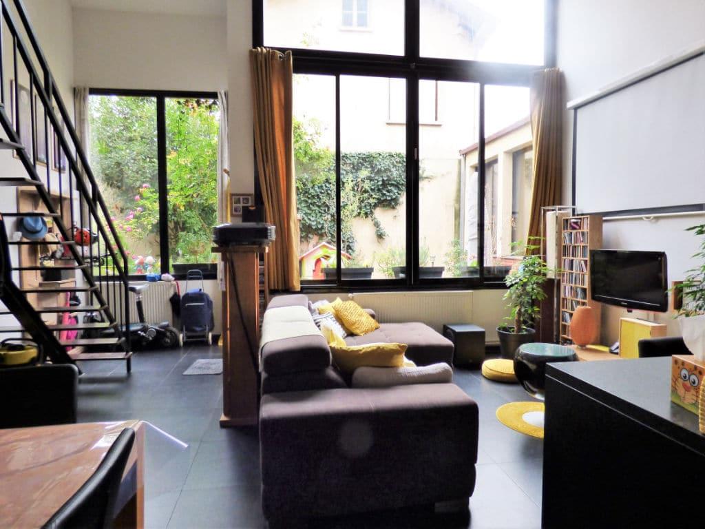 maison alfortville: 4 pièces 116 m² (carrez), pièce à vivre avec plafond cathédrale