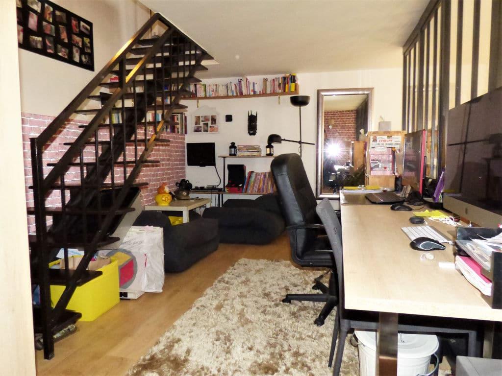 agence immo alfortville: 4 pièces 116 m² (carrez), pièce à vivre avec coin bureau