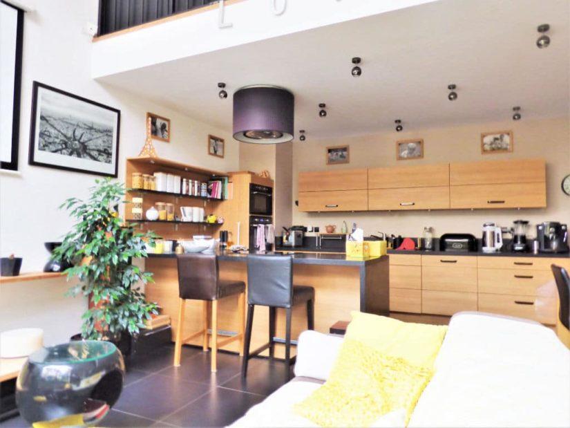 pavillon alfortville: 4 pièces 116 m²(carrez), cuisine moderne américaire équipée