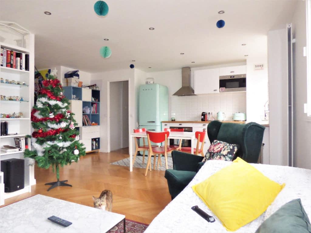 vente appartement maisons alfort: 3 pièces 65 m², séjour avec cuisine américaine aménagée