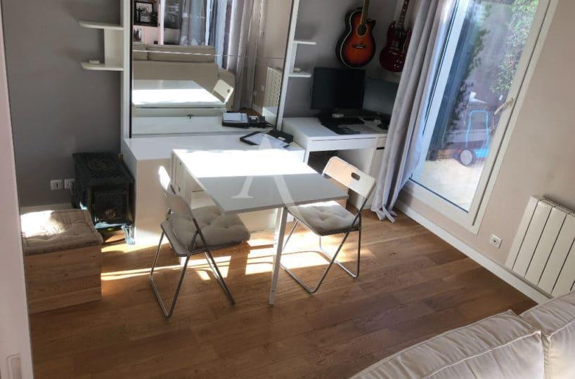 estimer appartement alfortville:  2 pièces 32 m², chambre ouverte donnant sur la terrasse