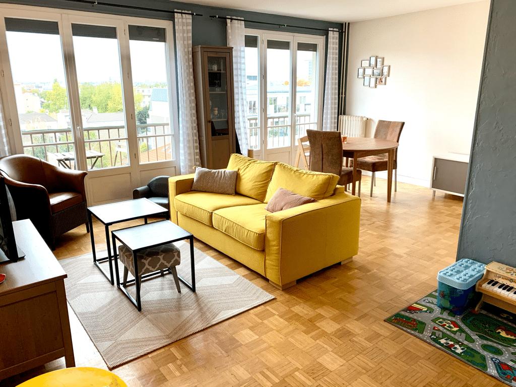 achat appartement maisons alfort: 3 pièces 65 m², double séjour de 24 m², balcon sans vis-à-vis, vue panoramique