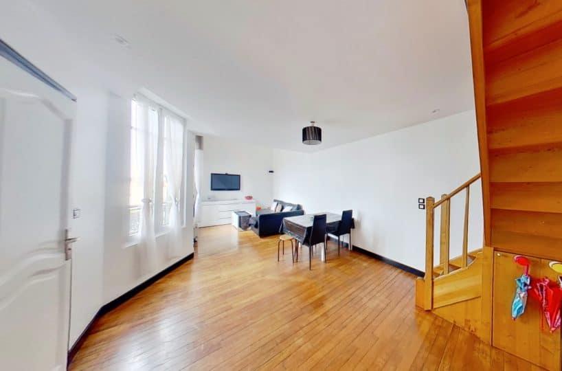 agence immobilière alfortville: à vendre appartement duplex 4 pièces 77 m², très bon état général