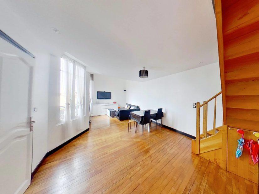 agence immobilière alfortville: à vendre appartement duplex 4 pièces 46 m², très bon état général