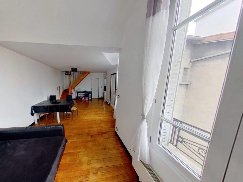 appartement a vendre alfortville: duplex 4 pièces, lumineux séjour-double, parquet au sol
