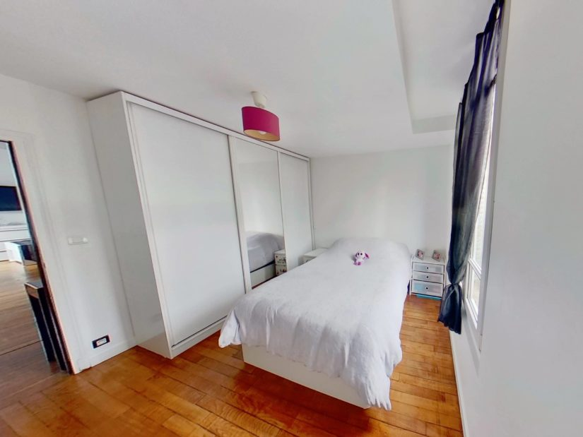 immobilier alfortville: appartement 4 pièces 46 m², niveau bas: chambre avec rangement