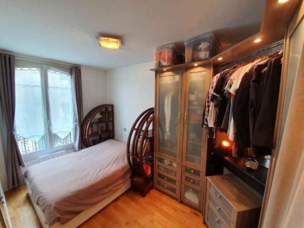 immo alfortville: appartement 2 pièces 44 m², chambre à coucher, nombreux rangements