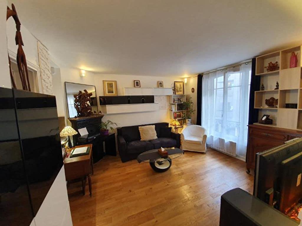 immobilier 94: appartement 2 pièces 44 m², grand séjour, parquet chêne massif au sol