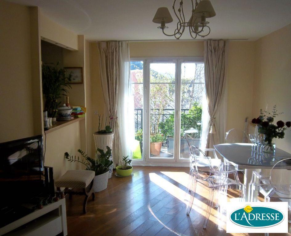immo alfortville: appartement 3 pièces 67 m², séjour avec balcon, parquet au sol