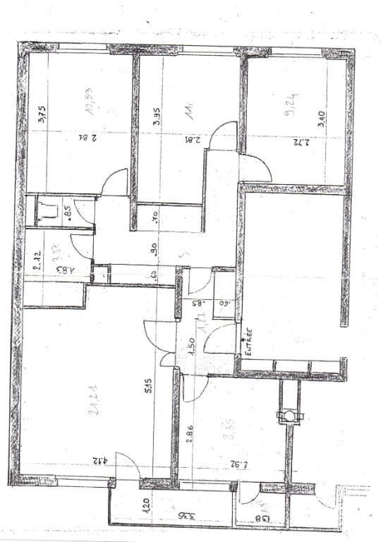 immo alfortville: 4 pièces 75 m², plan détaillé de l'appartement, secteur nord