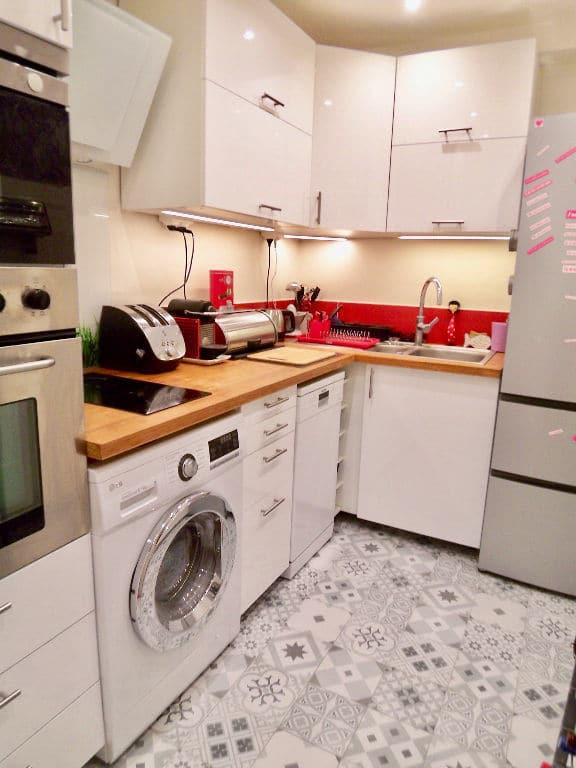 appartement charenton le pont: 3 pièces 55 m², cuisine indépendante aménagée et équipée