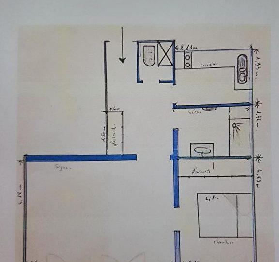 appartement à vendre à charenton-le-pont: 3 pièces 55 m², plan détaillé de l'appartement