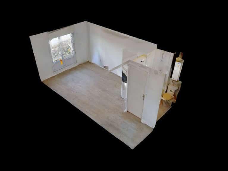 appartement a louer alfortville: studio 17 m², vue 3d du studio
