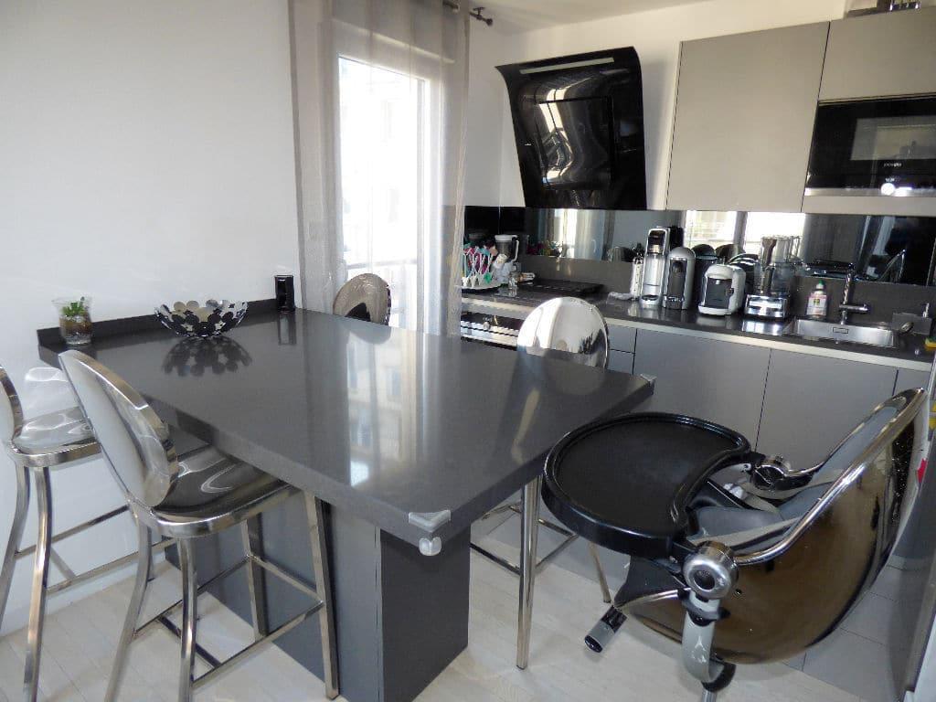 vente appartement maisons alfort: 3 pièces, cuisine aménagée ouverte sur séjour, coin repas