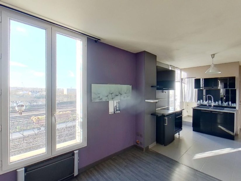 location appartement val de marne: studio 23 m², très bien agencé avec cave et parking, villeneuve saint georges