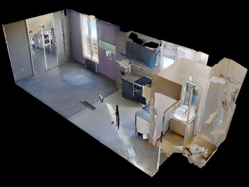agence immobiliere du val de marne: studio lumineux 23 m², coin cuisine aménagé et équipé