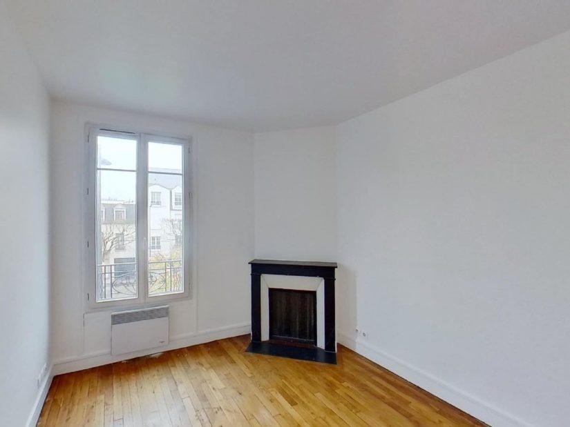 location d appartement a maison alfort: 3 pièces 50 m², chambre à coucher avec cheminée