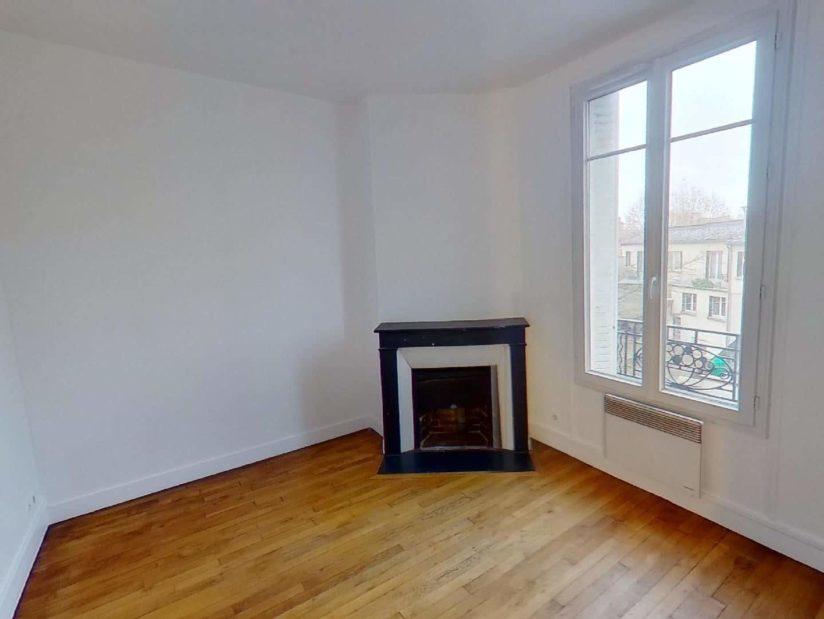 location appartement maisons alfort: 3 pièces 50 m², chambre avec cheminée