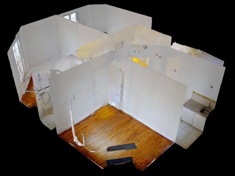 appartement à louer maisons alfort: 3 pièces 50 m², plan détaillé de l'appartement