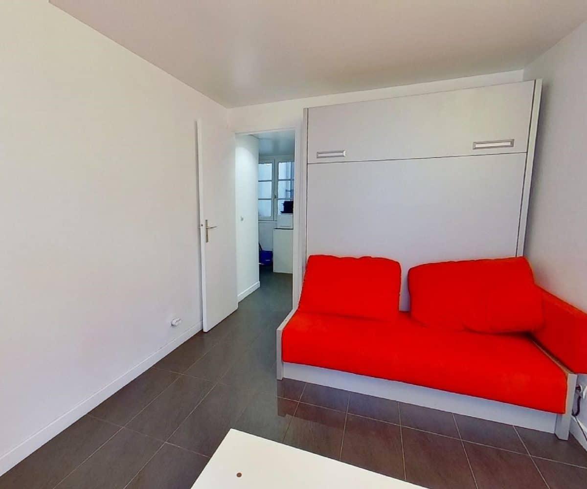 studio à louer charenton le pont: studio 19 m², pièce à vivre lumineuse à refaite à neuf