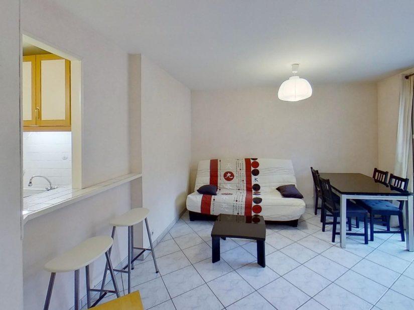 syndic alfortville: appartement 2 pièces 39 m², pièce à vivre lumineuse ouverte sur la cuisine