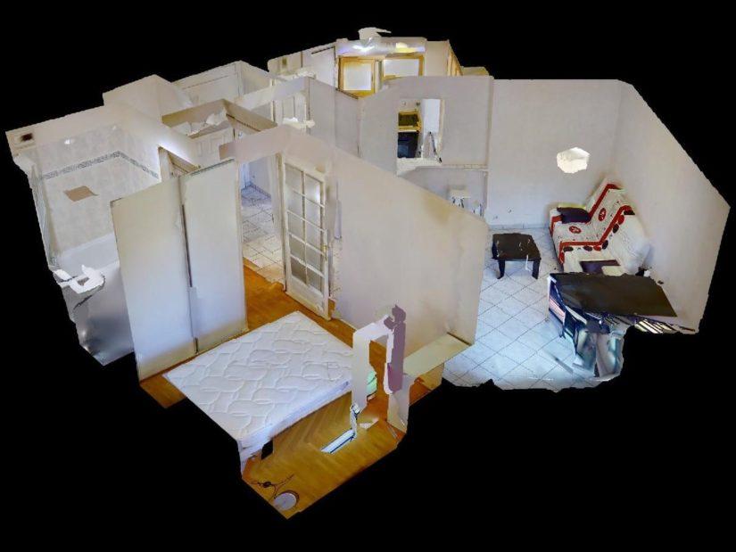 location appartement val de marne: 2 pièces 39 m², vue 3d de l'appartement
