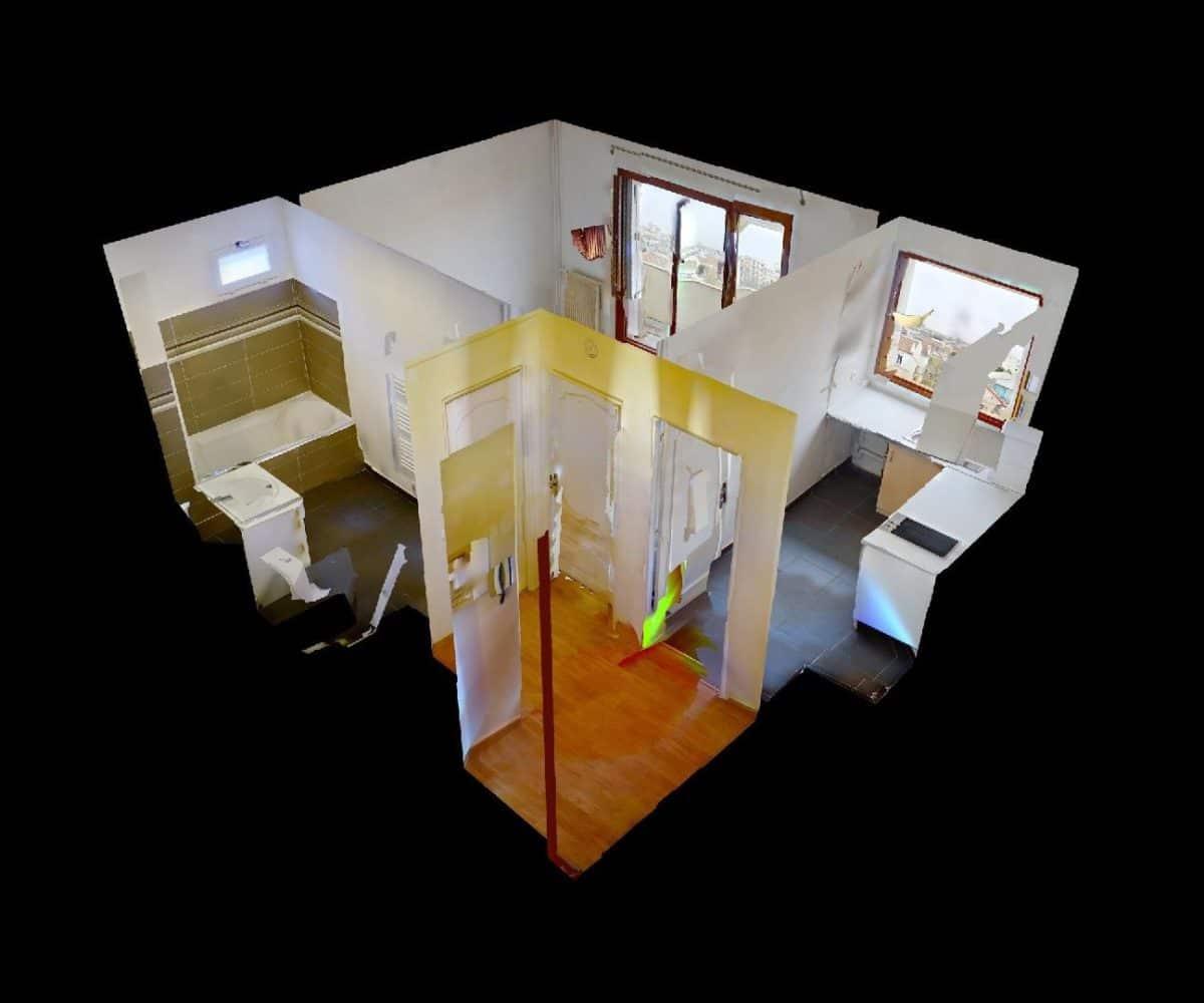 appartement alfortville: studio 27 m², plan détaillé de l'appartement