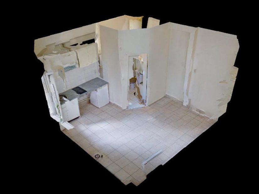 location charenton le pont: studio 15 m², vue en 3d