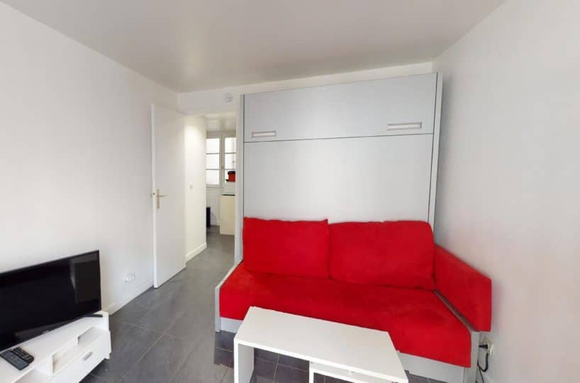 studio à louer charenton le pont: 19 m², pièce à vivre lumineuse à refaite à neuf