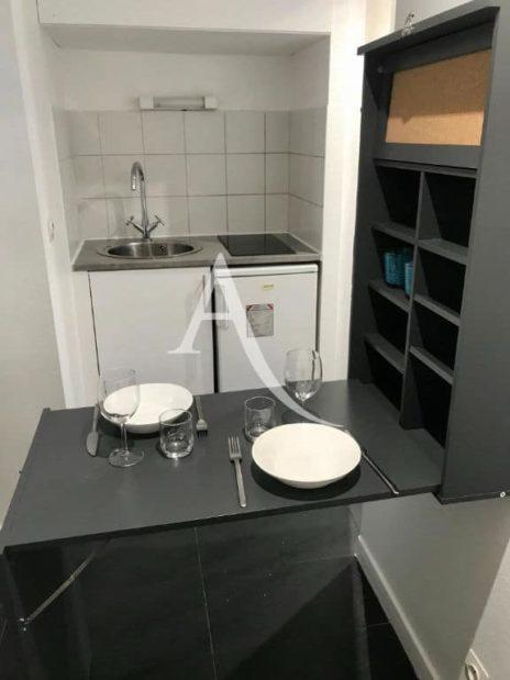 louer studio à charenton le pont: 19 m², espace repas aménagé non encombrant