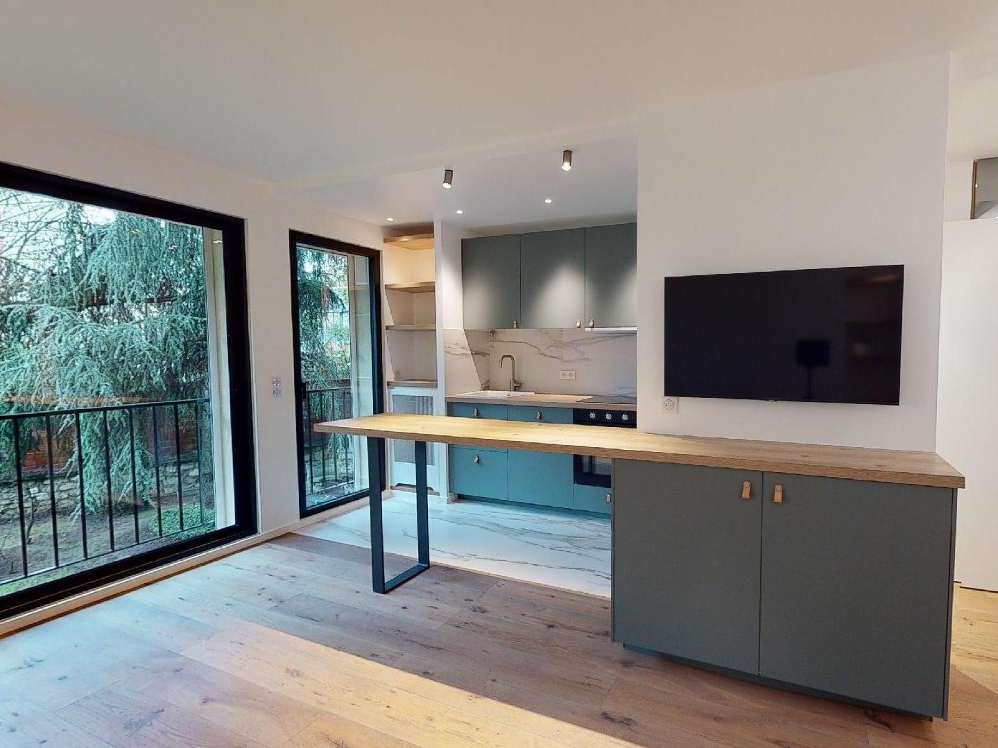 estimation appartement prix: 2 pièces 39 m², pièce à vivre lumineuse vue sur le parc