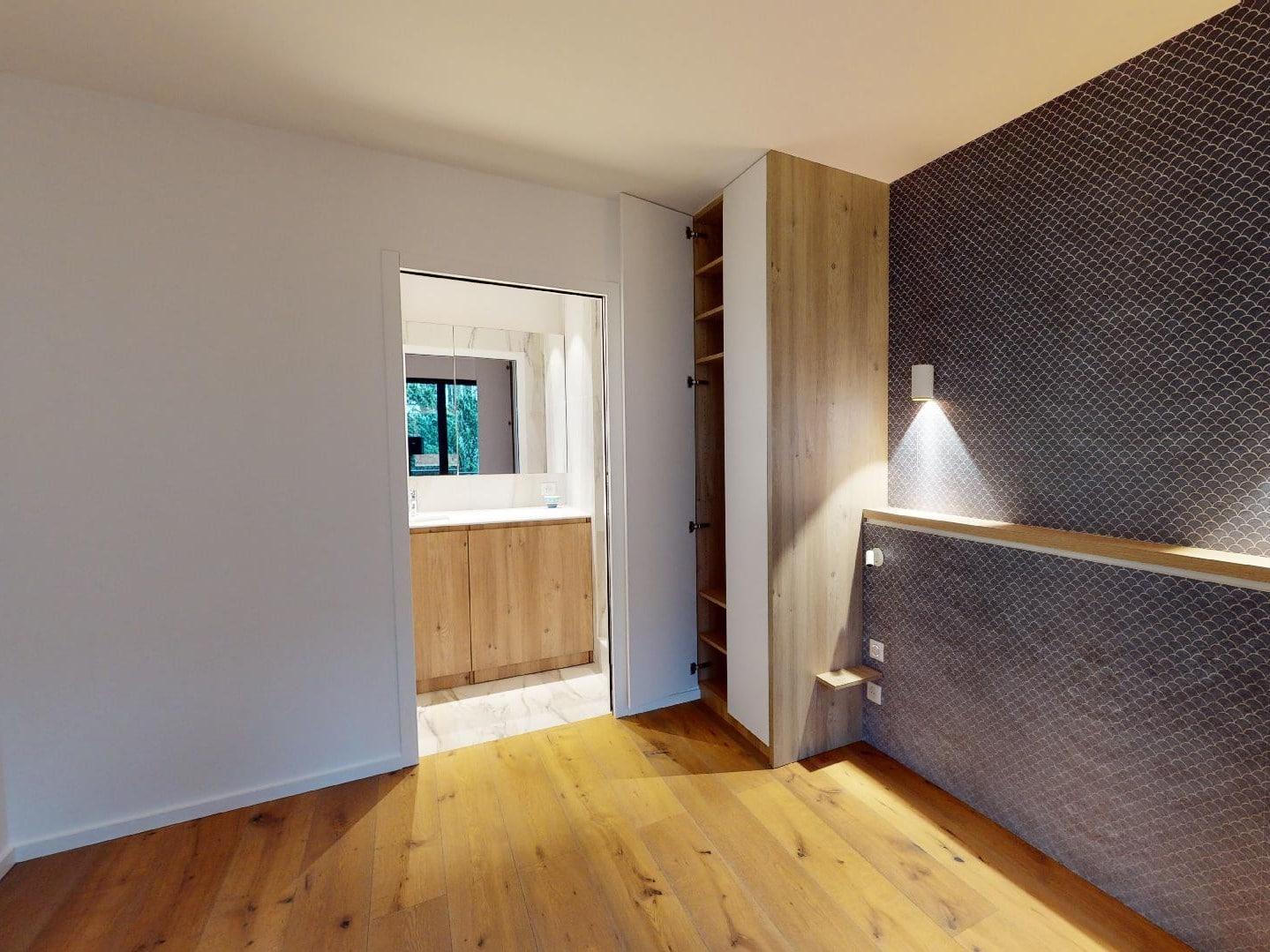 immobilier à vendre: 2 pièces 40 m², paris 14°, chambre avec vue parc et accès direct salle d'eau