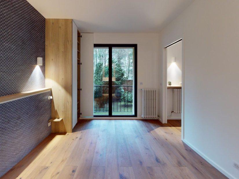 l adresse immobilier: 2 pièces 39 m², chambre avec belle vue sur le parc