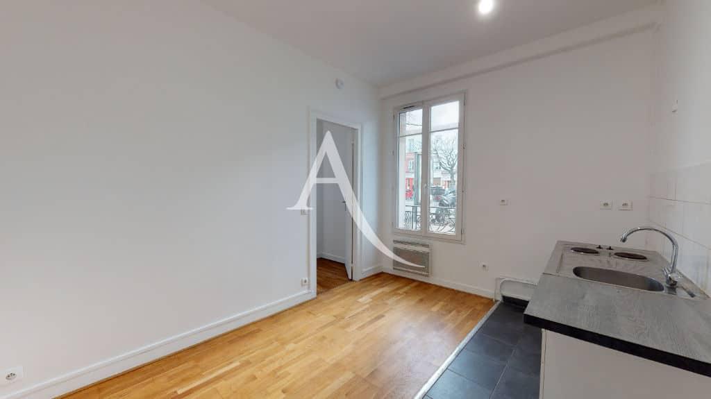 louer studio à maisons-alfort: 28 m², coin cuisine avec plaque de cuisson